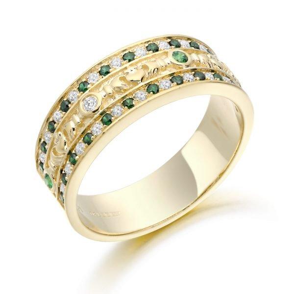 Claddagh Wedding Ring-CL17GGCL