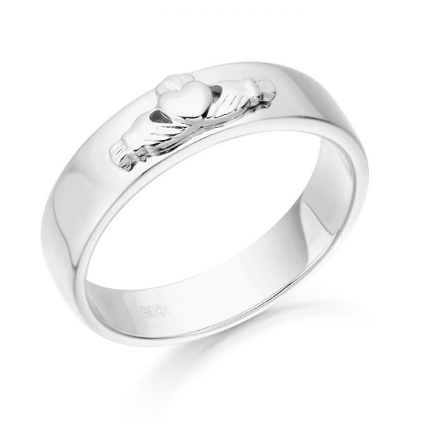 Claddagh Wedding Ring-CL22WCL