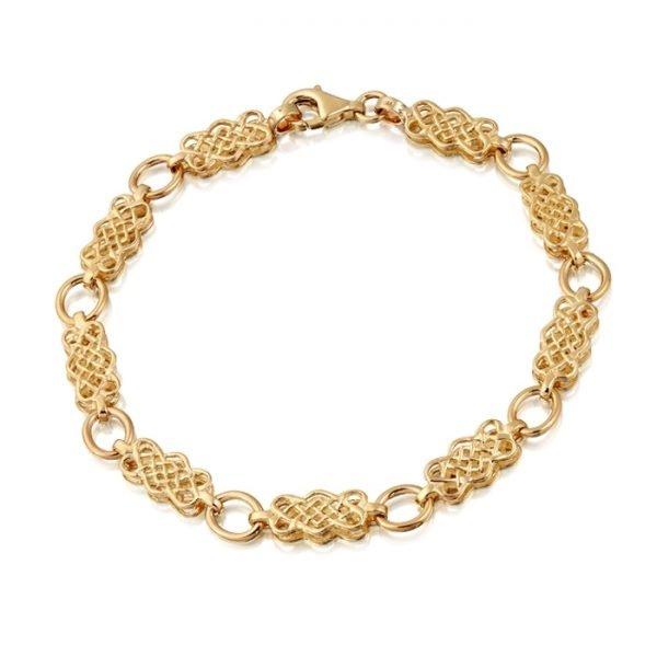 9ct Gold Celtic Bracelet-B01CL