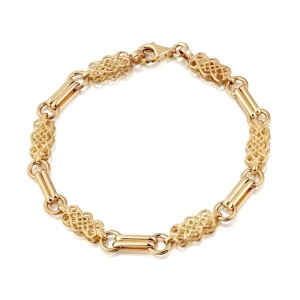 9ct Gold Celtic Bracelet-B02CL