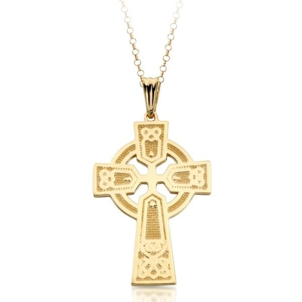 9ct Gold Celtic Cross - C04CL