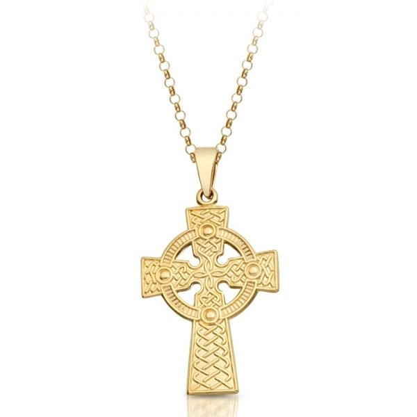 9ct Gold Celtic Cross - C06CL