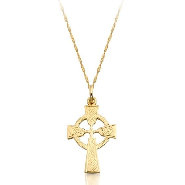 9ct Gold Celtic Cross - C112CL