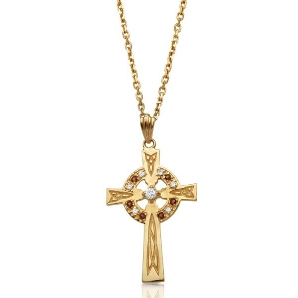 9ct Gold Celtic Cross - C111GARCL