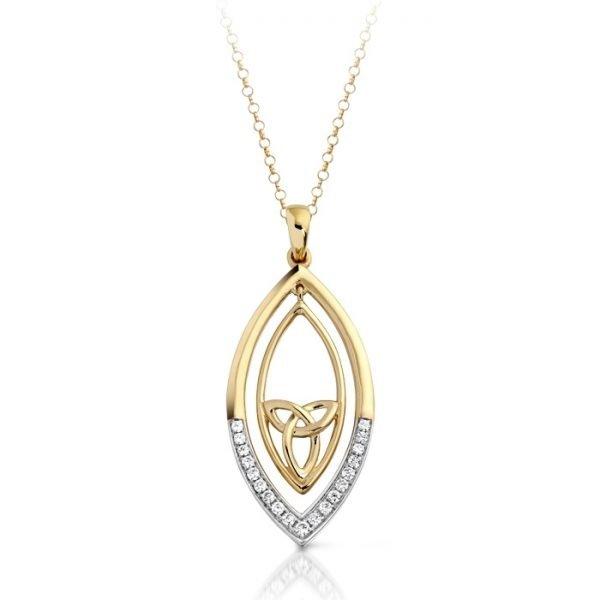 9ct Gold Celtic Pendant-P020CL