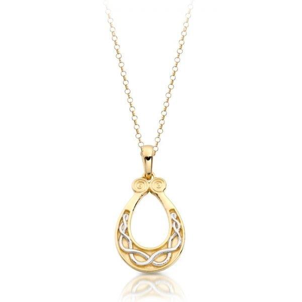 9ct Gold Celtic Pendant-P026CL