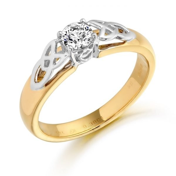 18ct Gold Diamond Celtic Ring-DPL498CL