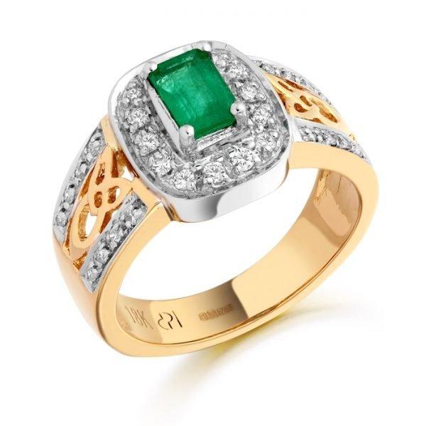 18ct Gold Diamond Celtic Ring-DPL522CL