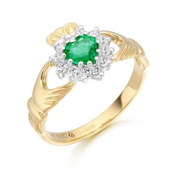 Diamond Claddagh Ring-CLDIACL