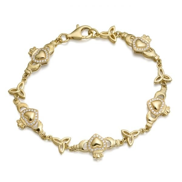 Gold Claddagh Bracelet - CLB32CL