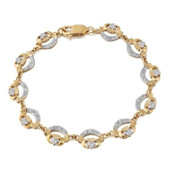 Ladies Claddagh Bracelet - CLB4CZCL