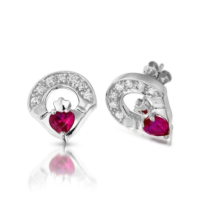 Claddagh Earrings E187rwcl