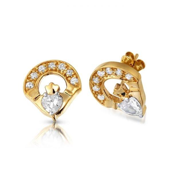 Claddagh Earrings-E187CL