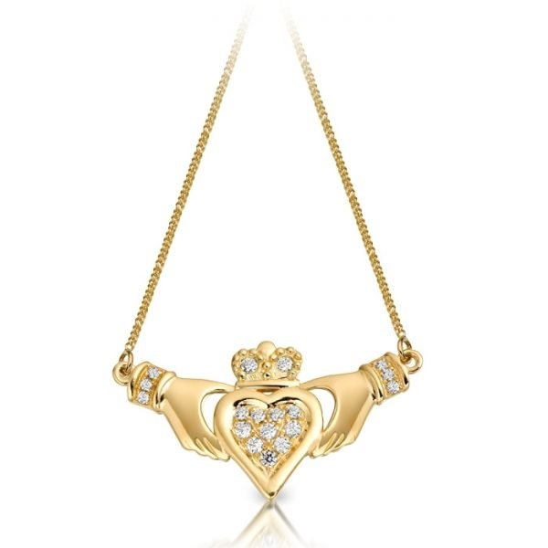 Claddagh Necklace Pendant-P038CL