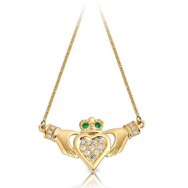 Claddagh Necklace Pendant-P038GCL