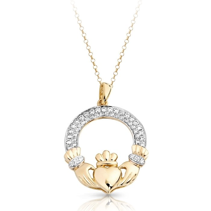 by in ireland shanore gold product made claddagh pendant