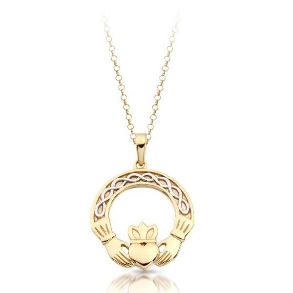 Gold Claddagh Pendant-P025CL
