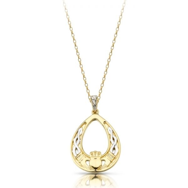Gold Claddagh Pendant-P031CL
