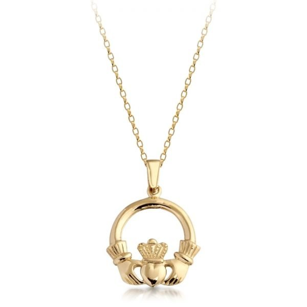 Gold Claddagh Pendant-P04CL