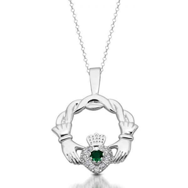 Claddagh Pendant-P133WCL