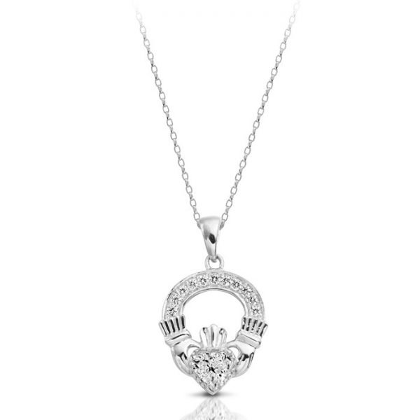 Claddagh Pendant-P188WCL