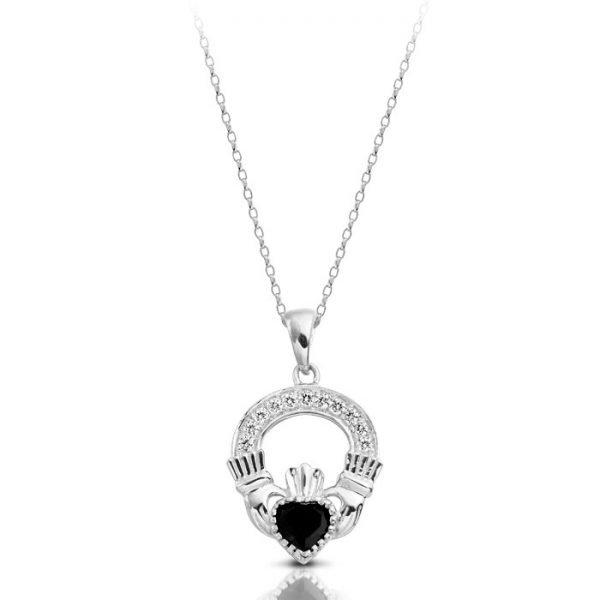 Claddagh Pendant-P188SWCL