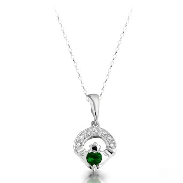 Claddagh Pendant-P187GWCL