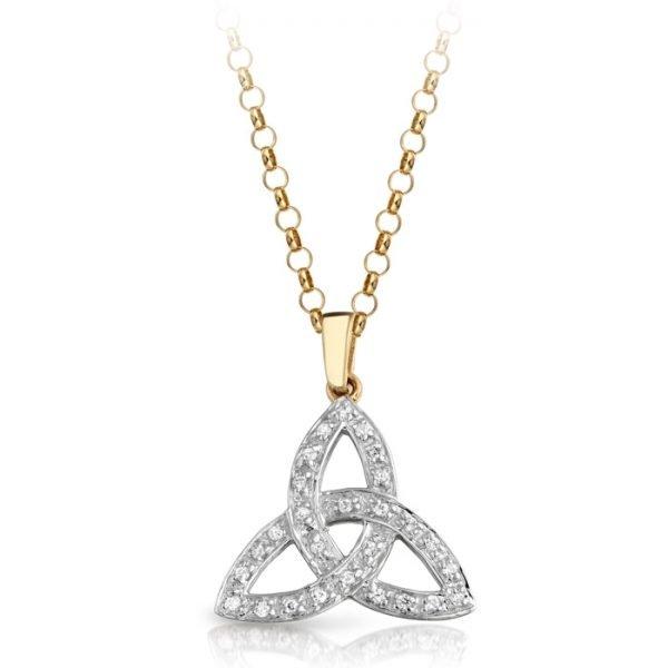 Trinity Knot CZ Celtic Pendant-P06CL