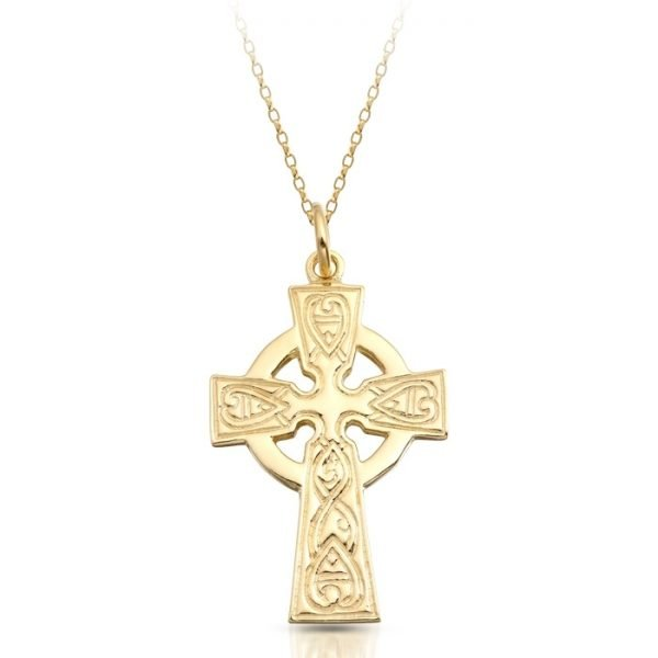 9K Gold Celtic Cross - C135CL