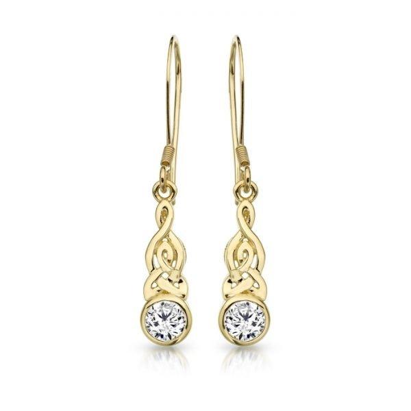 Gold Celtic Earrings-E036CL