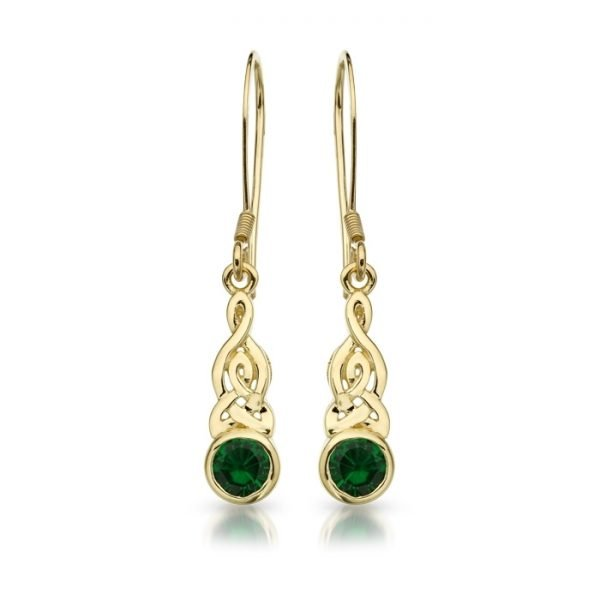 Gold Celtic Earrings-E036GCL