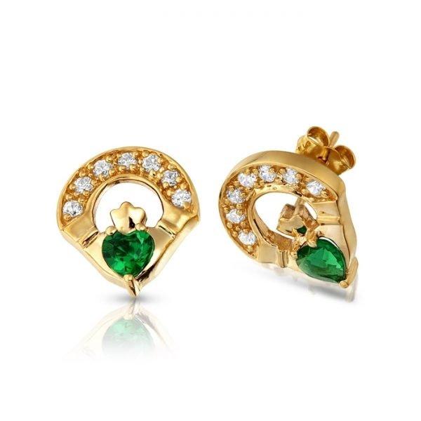 Claddagh Earrings-E187GCL