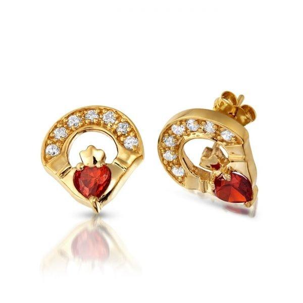 Claddagh Earrings-E187GARCL
