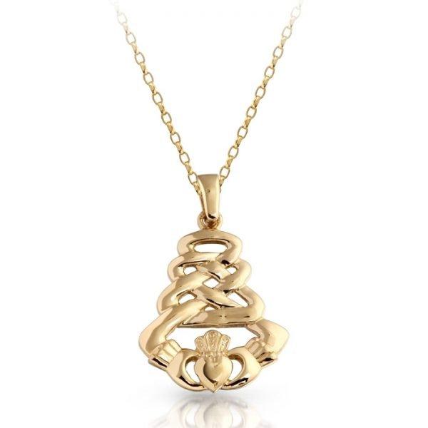 Gold Claddagh Pendant-P33CL