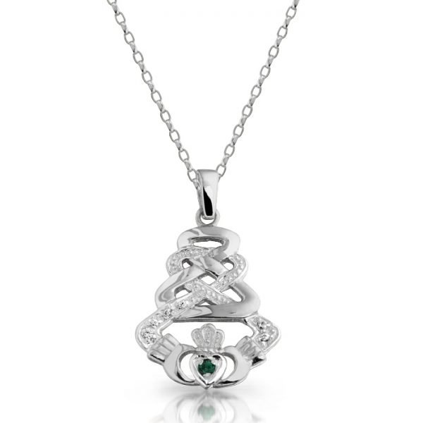 Gold Claddagh Pendant-P33GWCL