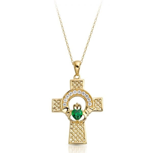 Gold Claddagh Cross-C126GCL