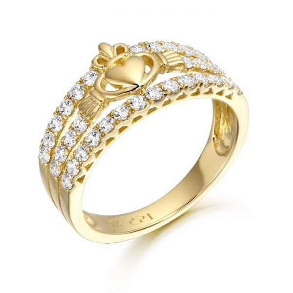 9ct Gold Claddagh Ring-CL31CL