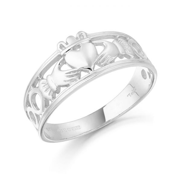 Gold Claddagh Ring-CL19WCL