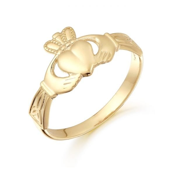 Gold Claddagh Ring-CL24CL