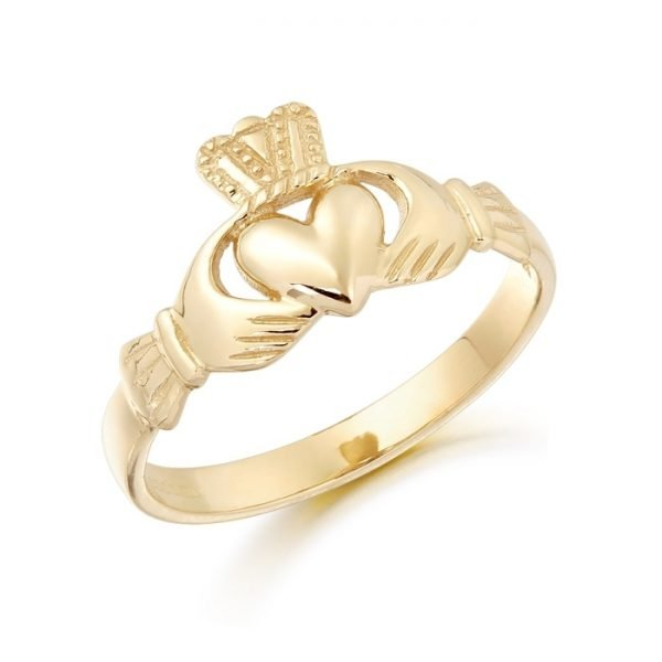 Gold Claddagh Ring-CL5CL
