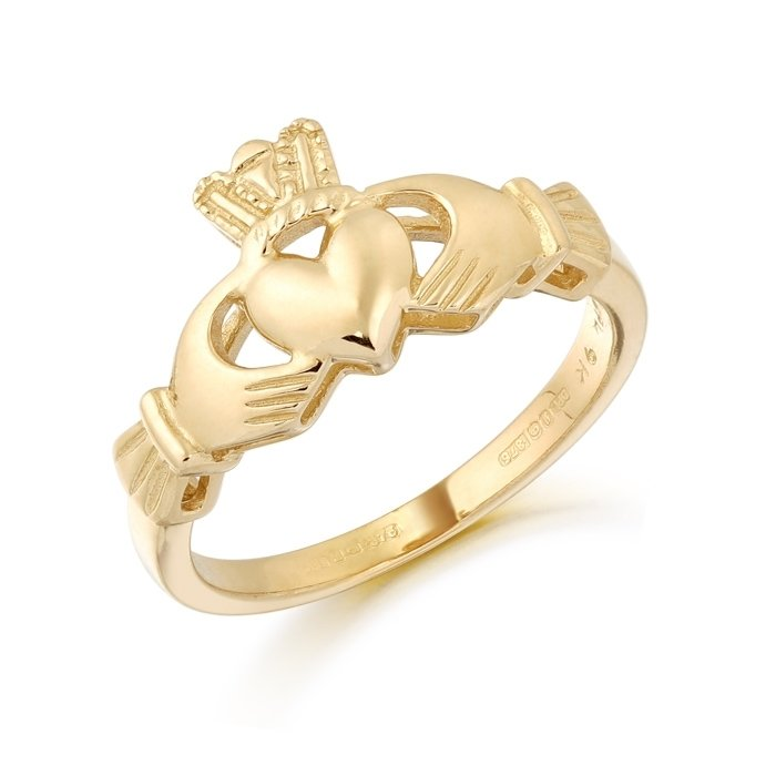 Gold Claddagh Ring-CL6CL