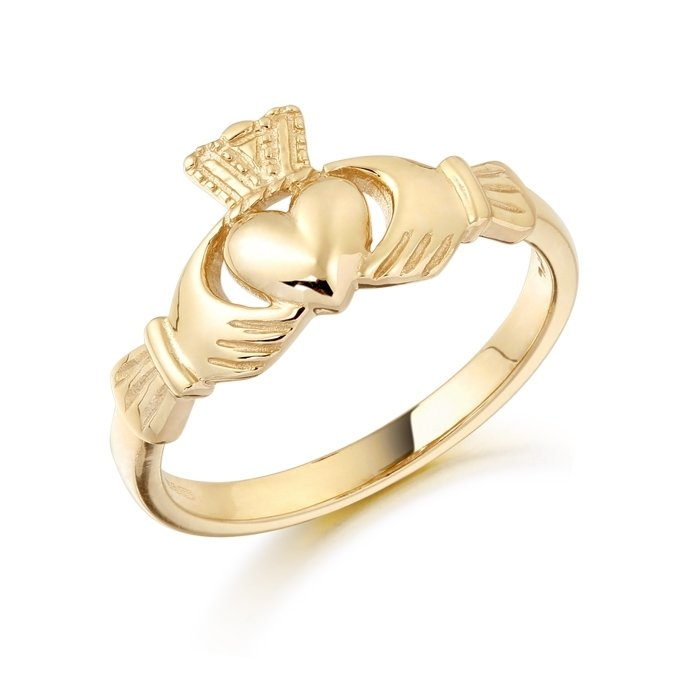 Gold Claddagh Ring-CL8CL
