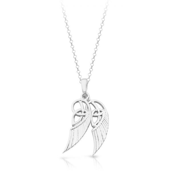 Silver Angel Wing Pendant-SP021CL