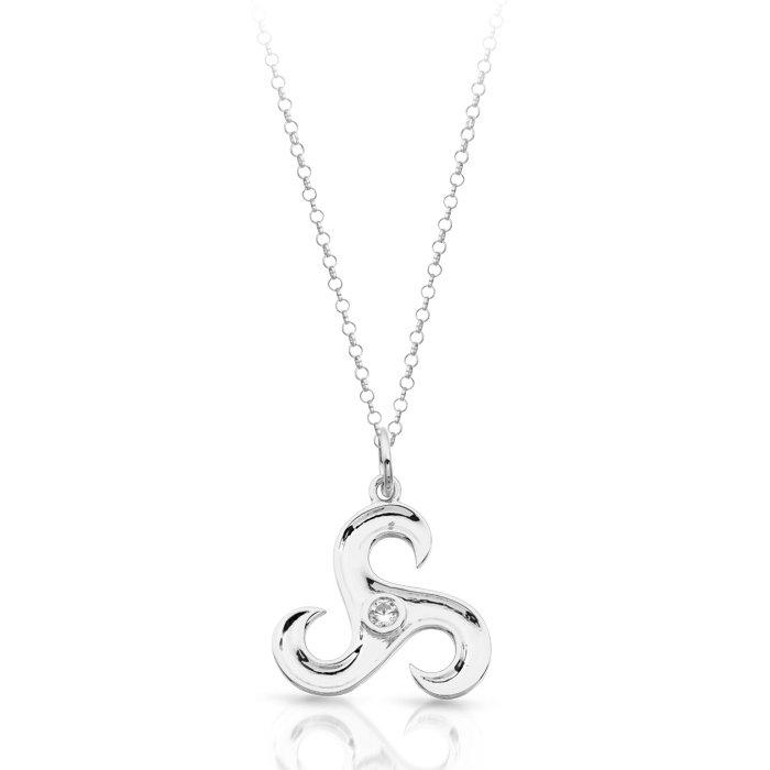 Silver triskele celtic pendant sp024cl aloadofball Image collections