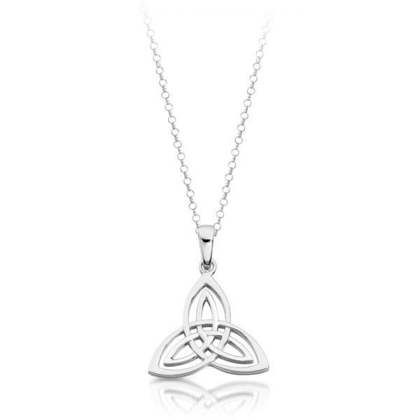 Silver Trinity Knot Celtic Pendant-SP028CL
