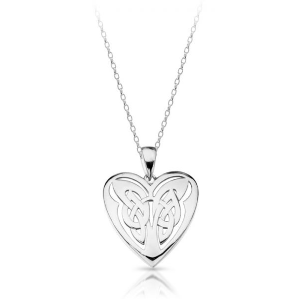 Silver Celtic Heart Pendant-SP029CL