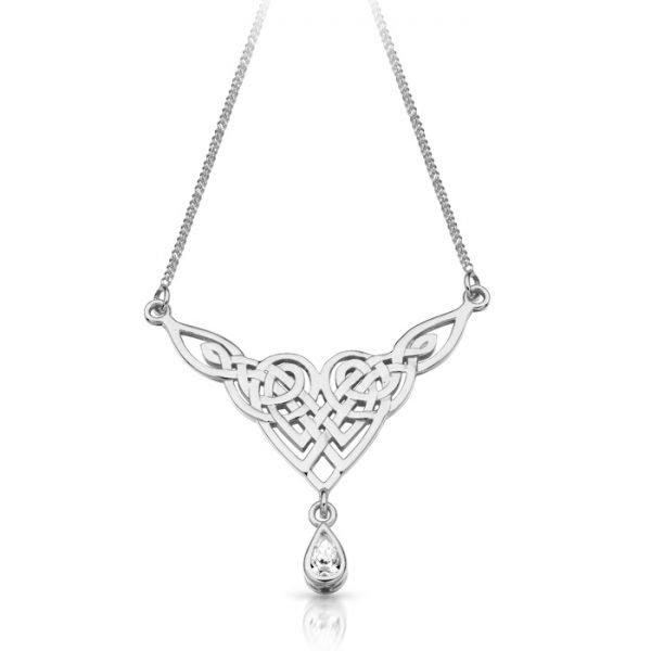 Silver Celtic Necklace-SP035CL