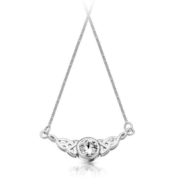 Silver Celtic Necklace-SP036CL