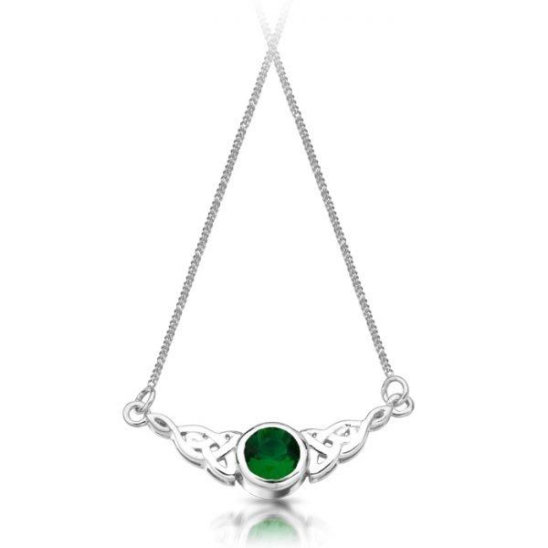 Silver Celtic Necklace-SP036GCL