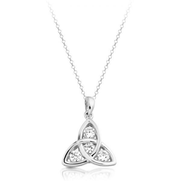 Silver Celtic Pendant-SP08CL